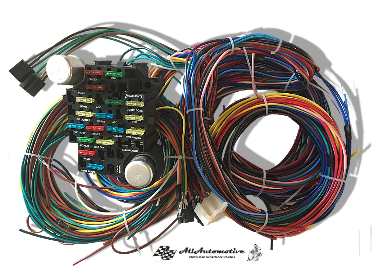 Kabelbaum 21 Wire Universal US Car Ford Mopar Chevy V8